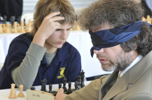 Gregory Kaidanov playing blindfolded chess.
